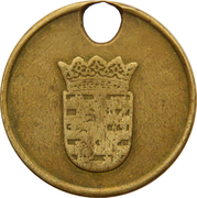 Dog Token (Luxembourg) – reverse