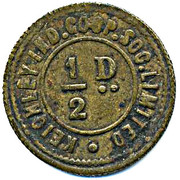 ½ Penny - Keighley Ind CSL (Yorkshire) – reverse