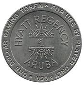 1 Dollar Gaming Token - Hyatt Regency Aruba – obverse
