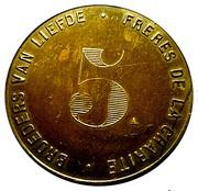 5 Francs  - Broeders Van Liefde – reverse