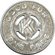1 Fare - Kenosha Motor Coach Lines Inc. (Kenosha, Wisconsin) – reverse