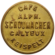 Token - Café Schoumacher-Calteux (Keispelt) – obverse