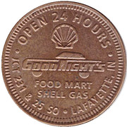 1 Cycle - Good Night's (Lafayette, Indiana) – obverse