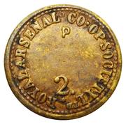 2 Pounds - Royal Arsenal CSL (Kent) – reverse