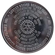 1 Dollar - London Bridge Rotary Club - Rotary International (Lake Havasu City, Arizona) – reverse