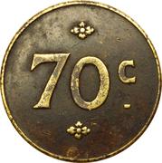 70 Centimes - Cantine Napoléon (Paris) – reverse