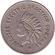 1 Fare - Muskogee Electric Traction Company (Muskogee, Oklahoma) – obverse