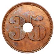 35 Centimes - Taverne Fritz (Bruxelles) – reverse