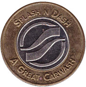 1 Dollar Car Wash Token - Splash n Dash (Warner Robins) – obverse
