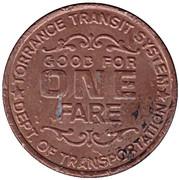 1 Fare - Torrance Transit System (Torrance, California) – reverse
