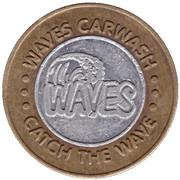 1 Dollar Car Wash Token - Waves Carwash (Fremont, Nebraska) – obverse