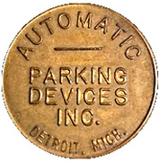 Parking Token - Automatic Parking Devices Inc. (Detroit, Michigan) – obverse