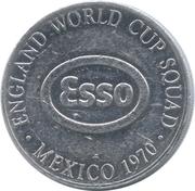 Esso Token - 1970 England World Cup Squad (Jack Charlton) – reverse