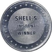 Token - Shell's Mr. President Coin Game (John Tyler; Instant Winner) – reverse