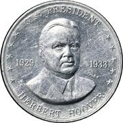 Token - Shell's Mr. President Coin Game (Herbert Hoover) – obverse