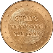 Token - Shell's Mr. President Coin Game (One Dollar - Shell Emblem) – reverse