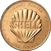 Token - Shell's Mr. President Coin Game (One Dollar - Shell Emblem) – obverse