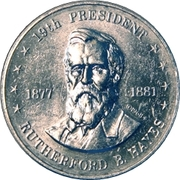 Token - Shell's Mr. President Coin Game (Rutherford B. Hayes) – obverse