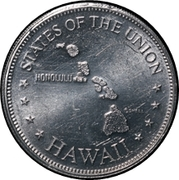 Token - Shell's States of the Union Coin Game, Version 1 (Hawaii; Instant Winner) – obverse