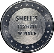 Token - Shell's States of the Union Coin Game, Version 1 (Alaska; Instant Winner) – reverse