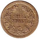 Spiel Marke (Deutscher Kaiser) – reverse