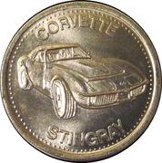 Token - Shell's Hot Wheels Coin Game (Corvette Stingray) – obverse