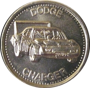 Token - Shell's Hot Wheels Coin Game (Dodge Charger) – obverse