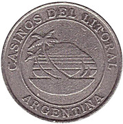 Game Token - Casinos del Litoral (Corrientes) – obverse