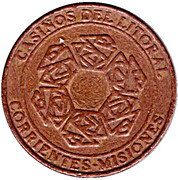 Game Token - Casinos del Litoral (Corrientes-Misiones) – obverse