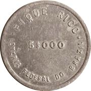 Token - Loteria Federal do Brazil (5$000) – reverse