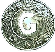 1 Fare - Gibson Lines (Sacramento, California) – obverse