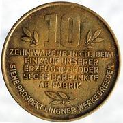 Token - Karl A. Lingner 10 Warenpunkte – reverse