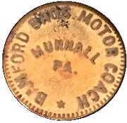 1 Fare - Bamford Bros. Motor Coach (Munhall, Pennsylvania) – obverse