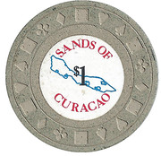1 Dollar - Sands of Curacao – reverse