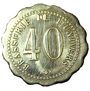 40 Centimes - Brasserie de l'Univers – reverse