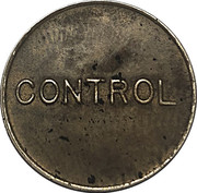 Telephone Token - Telefoane Control (24 mm; small letters) – reverse