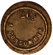 20 Centimes - A Consommer (Horseshoe) – reverse