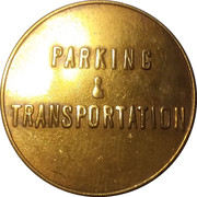 Parking & Transportation Token - OU Visitor (Norman, Oklahoma) – reverse