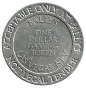 1 Dollar Gaming Token - Ballys (Las Vegas, Nevada) – reverse