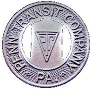 1 School Fare - Penn Transit Company (McKeesport, Pennsylvania) – obverse