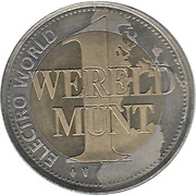1 Wereld Munt - Electro World – reverse