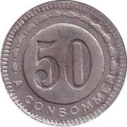 50 Centimes (Abero) – reverse