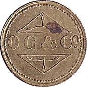 1 Penny - Osborne, Garret & Co (O. G. & Co) – obverse