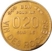 """""""Bon pour 0.20 NF"""" sur le Vin des Rochers – obverse"""