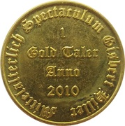 1 Gold Taler - Live Action Role Playing (Spectaculum) – reverse