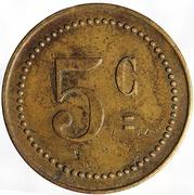 5 Centimes - Rossi et P. Bugni – reverse