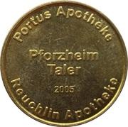 Pforzheim Taler - Reuchlin Apotheke & Portus Apotheke – reverse