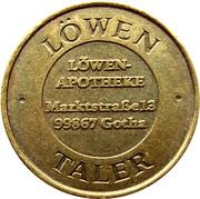 Löwen Taler - Löwen Apotheke (Gotha) – reverse