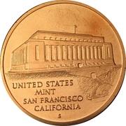 Token - United States Mint, San Francisco, California – reverse