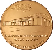 Token - United States Mint, Philadelphia – obverse